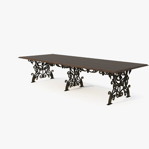 3d model forged table