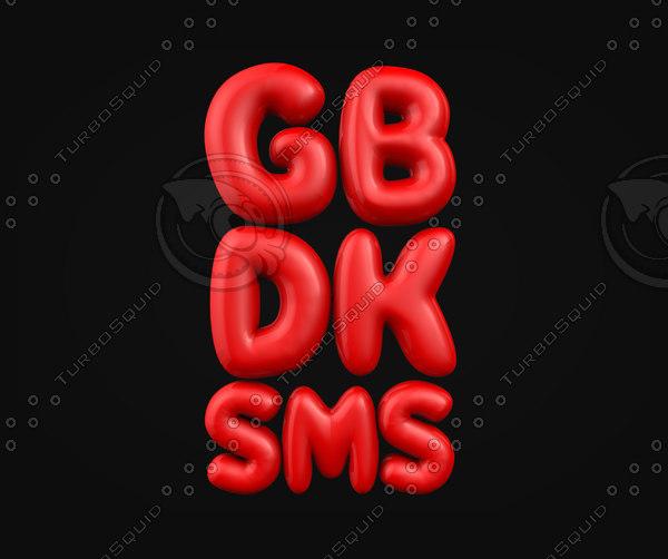 gsm balloon 3d model