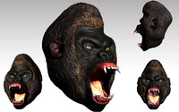 gorilla head 3d 3ds