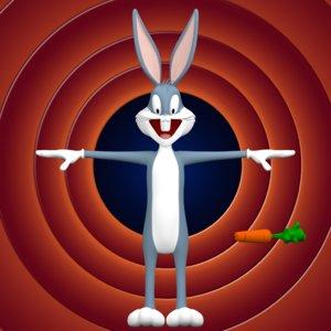 3d bugs bunny model