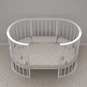3d model stokke crib white version