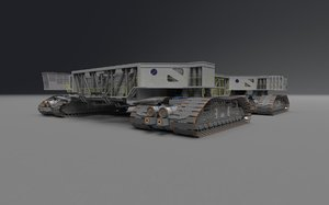 3d model of nasa crawler