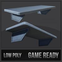 3d metal shelf 01 model