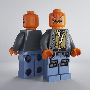 lego jack-o-lantern 3d 3ds