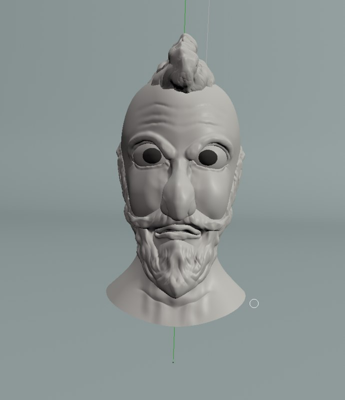 3d model of character face