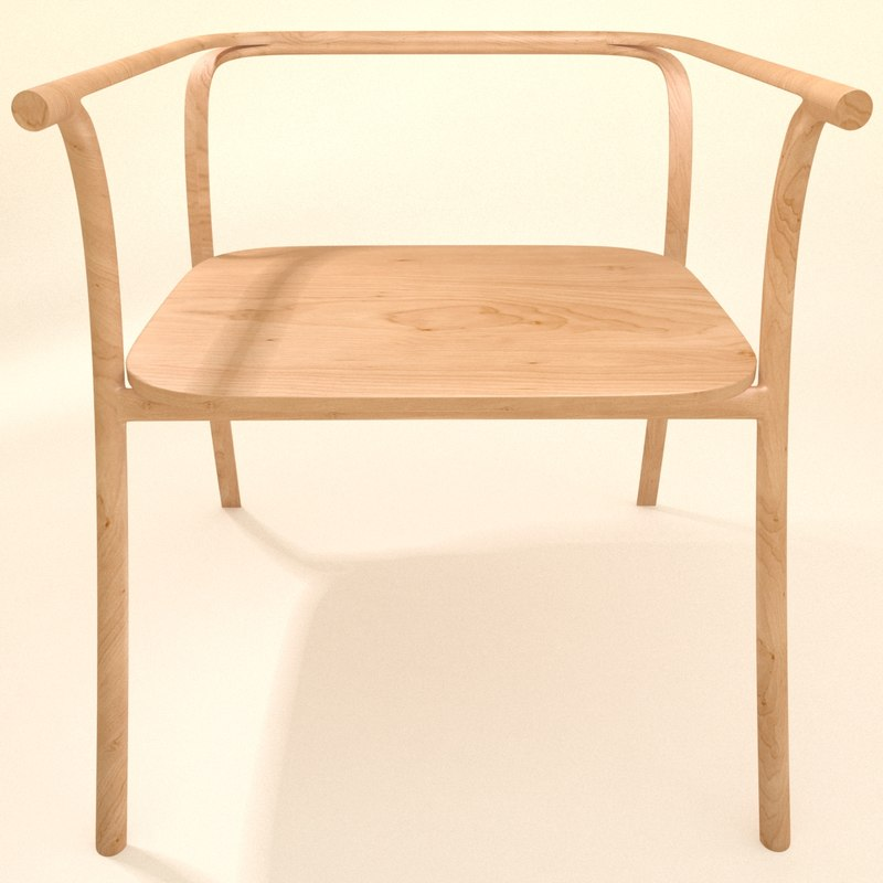chair carved wooden 3d max