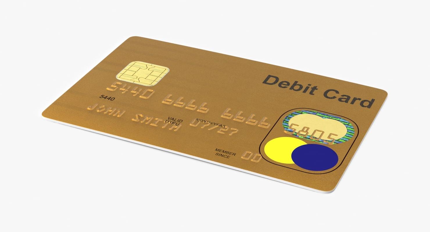 3d debit card