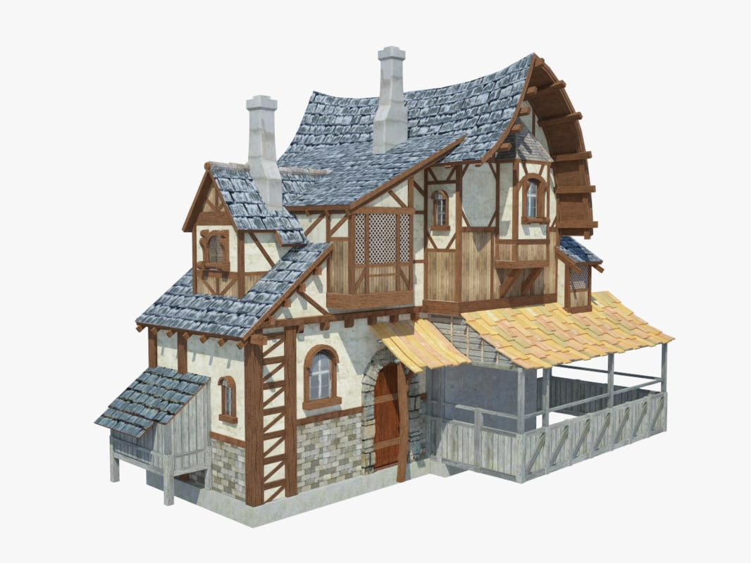 max fantasy medieval house