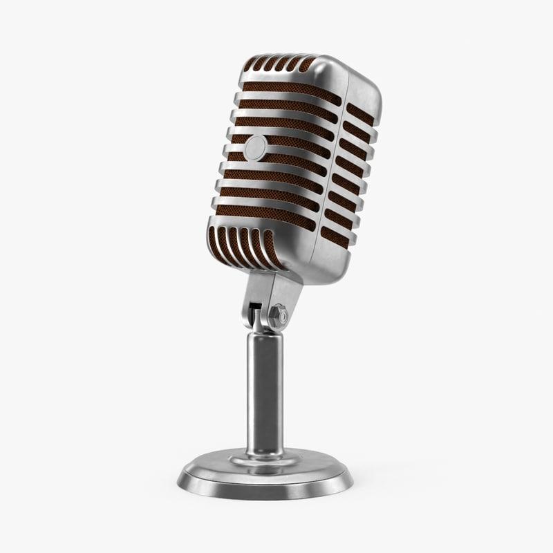 3d model microphone radio