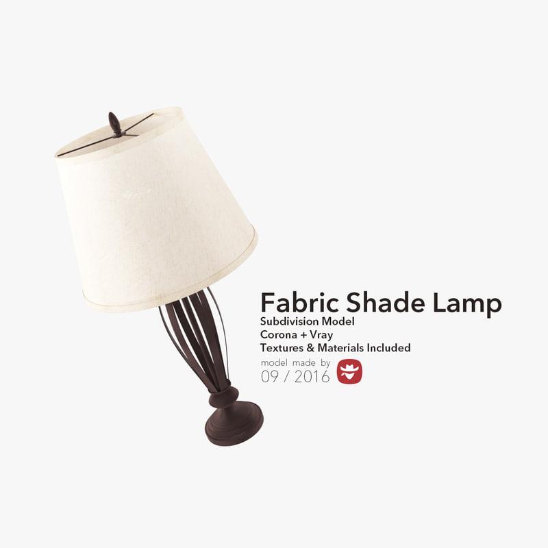 3d fabric shade lamp