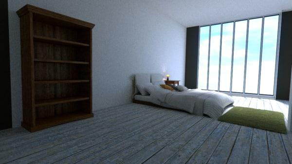 large apartment 3d blend