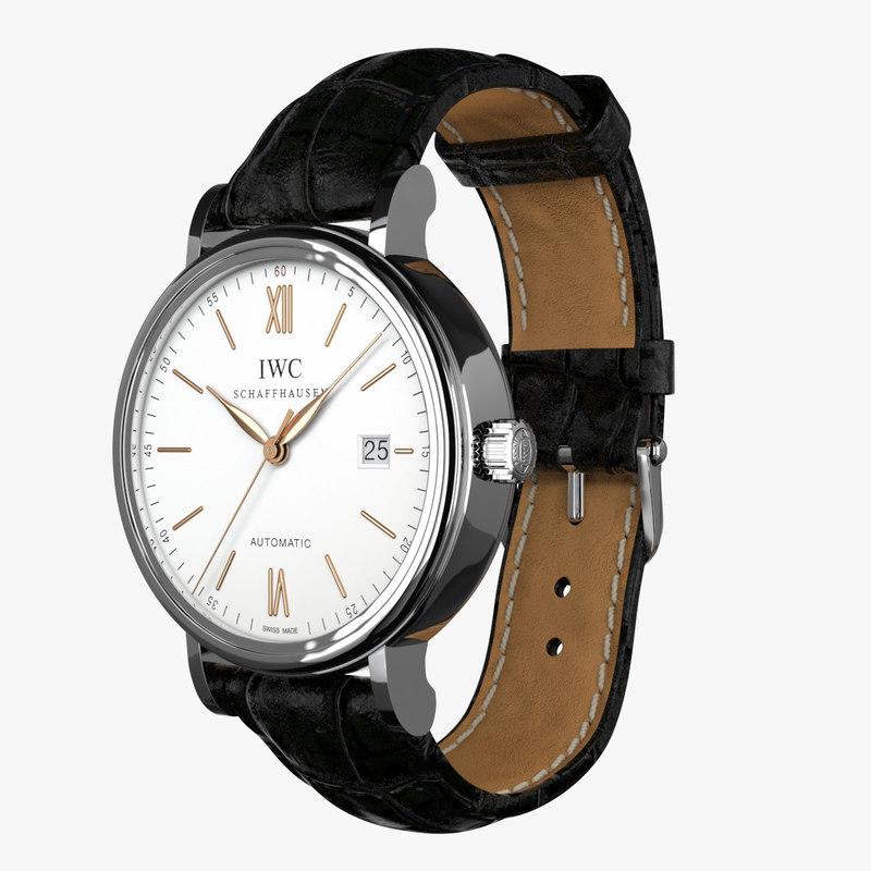 iwc portofino automatic leather 3d max