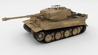 panzerkampfwagen tiger e early 3d obj
