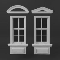 3d classic window frames model