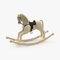 Rocking Horse 01 White