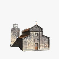 romanic church ardara interior building 3d model