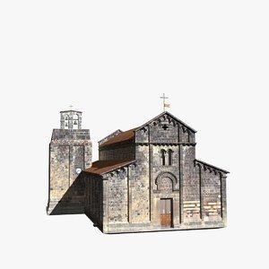 romanic church ardara interior building 3d model
