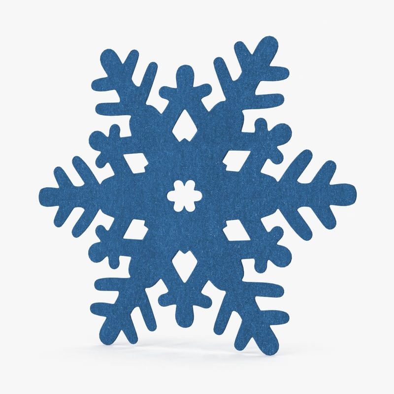 decorative snowflake blue 3d model