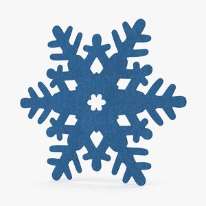decorative snowflake blue 3d model