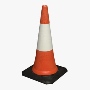 3d real-time traffic cone model