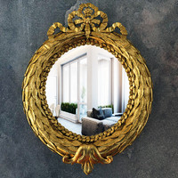 mirror classic gold ornaments 3d model