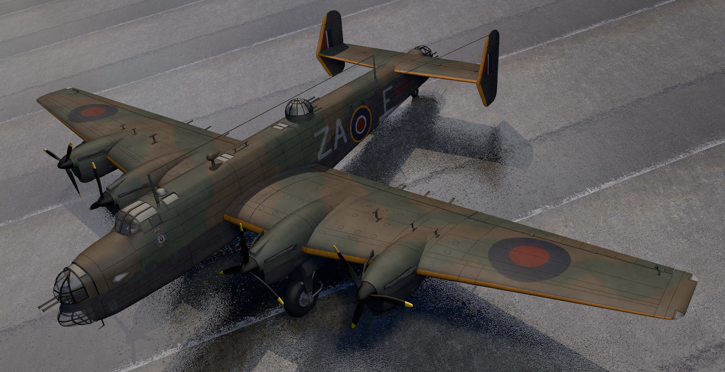 plane handley page halifax 3ds