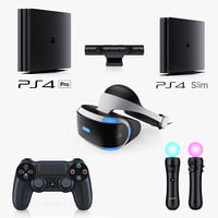 3d sony playstation 4 complete model