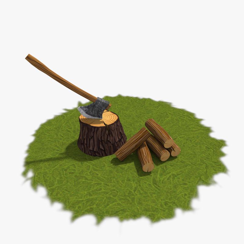 ax log 3d model
