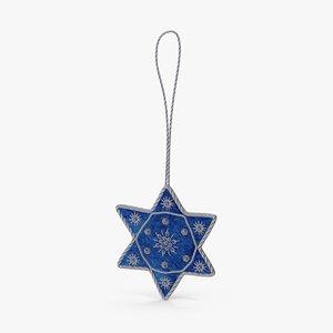 star david ornament 03 3d model
