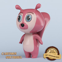 3d cartoon squirrel
