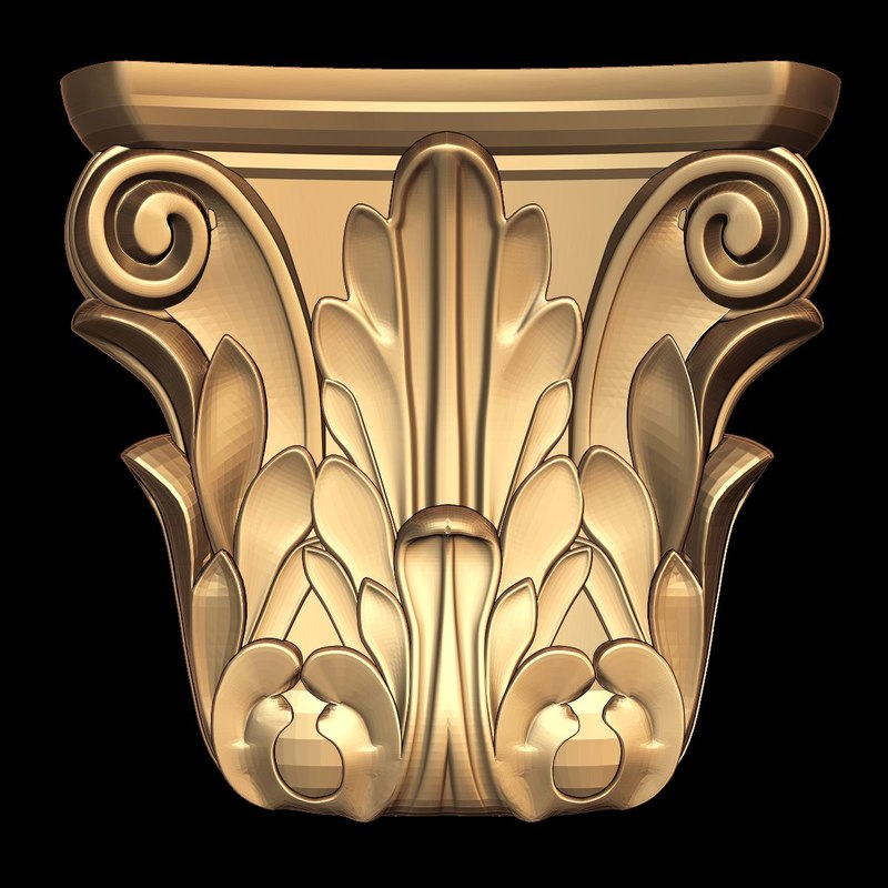 decor element stl cnc 3d 3ds