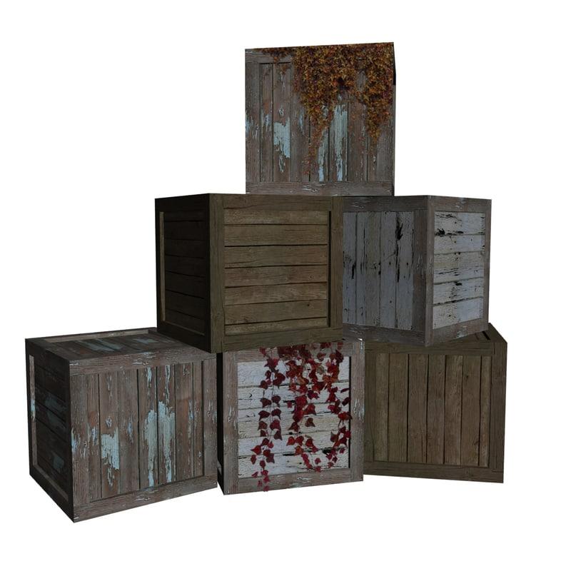 crates ready 3d model