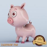 cartoon pig animation max