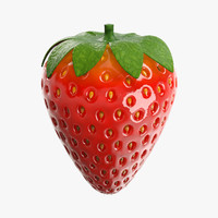 strawberry berry 3d obj