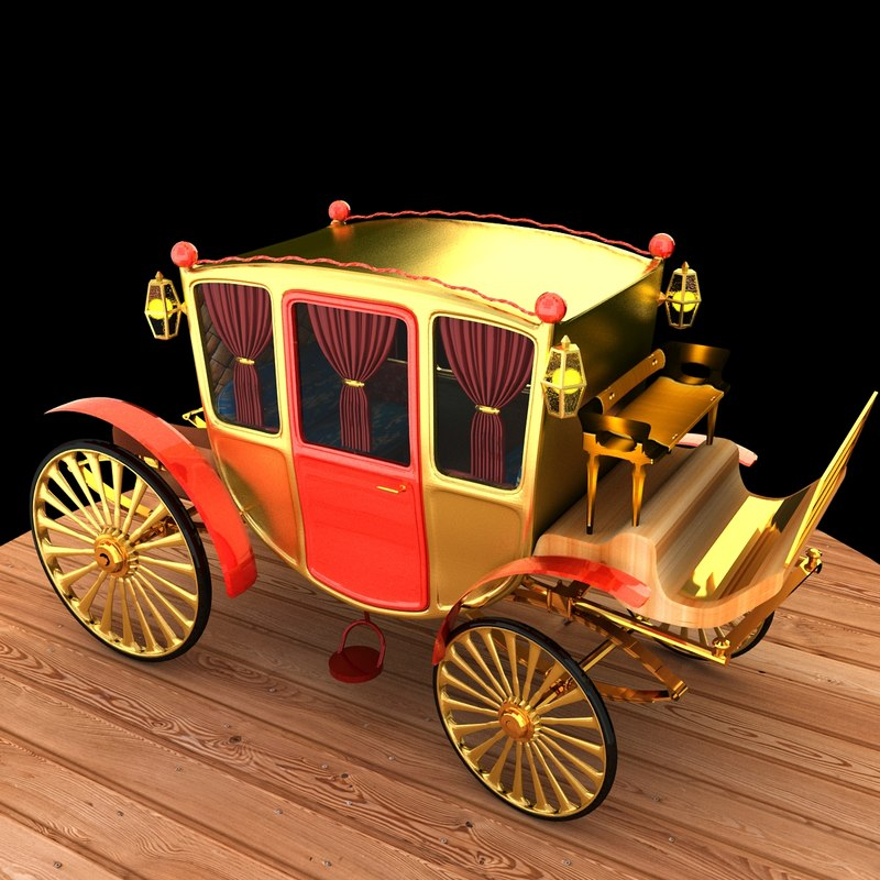 carriage 3d max