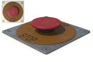 stop button 3d model