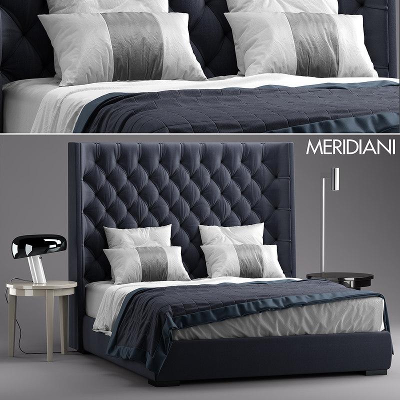 3d meridiani turman bed
