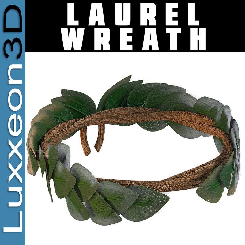 3d model laurel wreath