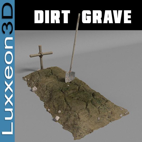 dirt grave 3d model