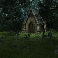 cemetery 3d max