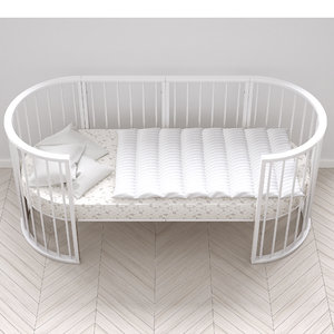 stokke crib white wood 3d c4d