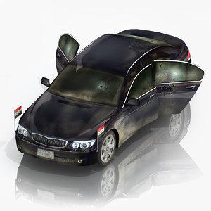 3d model diplomatic car