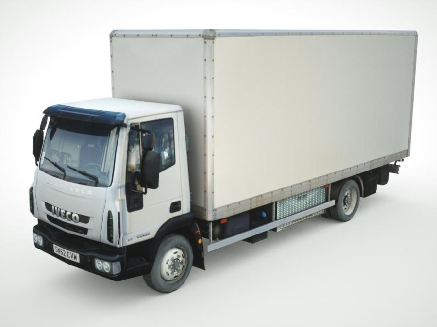 3d model of iveco eurocargo cargo box