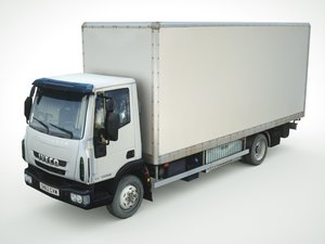 3d model of iveco eurocargo cargo box