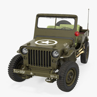 jeep willys 1944 rigged 3d model