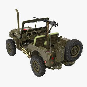 3d model jeep willys ambulance