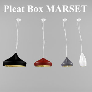 pleat box marset lights 3d 3ds