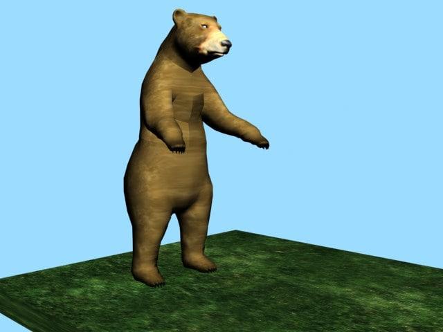 brown bear 3d model