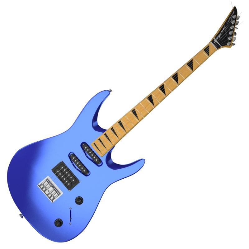 3d electric guitar