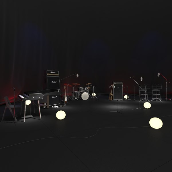 stage set 3d obj